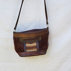 Vintage Boho Leather Bolivia Brown Crossbody Bag